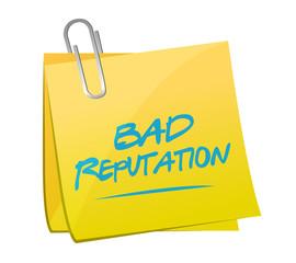 bad reputation memo post illustration