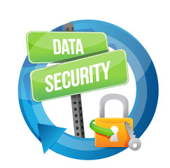 data security cycle sign illustration