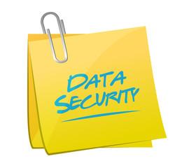 data security post memo illustration