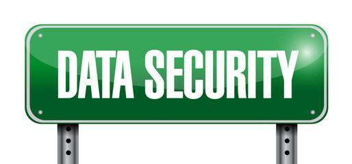 data security street sign illustration