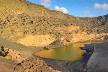 The Green Lagoon (Charco de los Ciclos) in Lanzarote, Spain