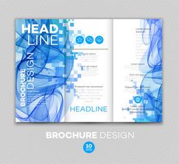 Template for brochure. Vector illustration