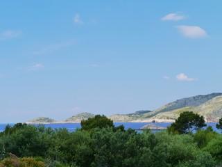 The coast of the island Lastovo in the Adriatic sea of Croatia