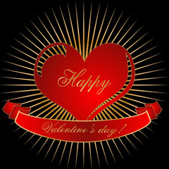 Bursting Heart for Valentine's Day Love