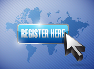 register here button and cursor