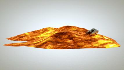 3d render of hot lava