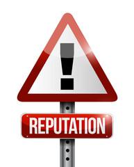 reputation warning sign illustration