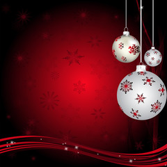 Red Snowflakes With Red and White Balls