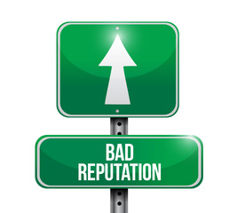 bad reputation street sign illustration