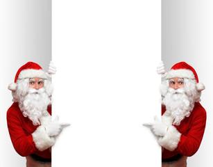 Leere Wand und Weihnachtsmann