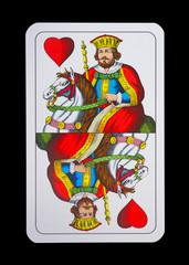 Spielkarten - Schnapskarten  Herz König