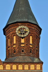 Tower Konigsberg Cathedral at sunset.  Kaliningrad, Russia