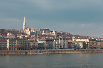 View of the embankment of the Danube, Budapest