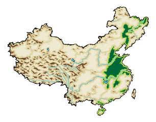 China Map Vector Illustration isolated on a white background