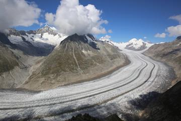 Aletschgletscher. Schweiz