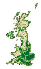 United Kingdom Map Vector Illustration