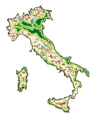 Italy Map Vector Illustration isolated on a white background
