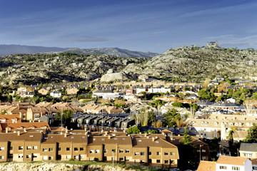 Vista de Torrelodones, al noroeste de Madrid,Spain