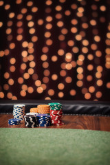 Empty place on the poker table