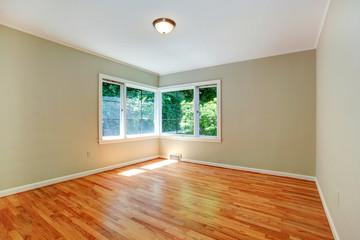 Empty master bedroom interior