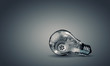 Light bulb with gears - 74107865