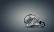 Leinwandbild Motiv Light bulb with gears