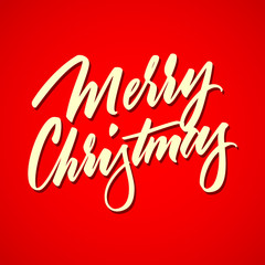 Light Abstract Merry Christmas Lettering