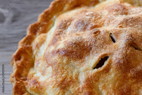 Foto op Aluminium Dessert Apple Pie Close-up