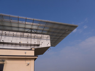 Fiat Factory Rooftop Racetrack at the Lingotto in Turin Italy.