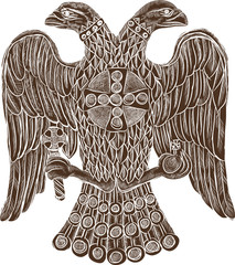 Byzantine double headed eagle