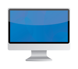 Vector illustration of modern computer display