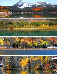 Colorado autumn and winter scenes
