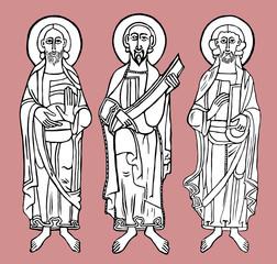 Saint figure. Vector illustration