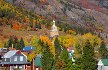 Scenic Silverton cityscape in autumn time