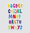Cartoon comic graffiti font alphabet. Vector - 74112885