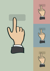 Clicking Finger Gesture Vector Cartoon