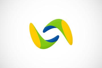infinity abstract loop logo vector