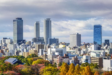 Nagoya, Japan Downtown Cityscape