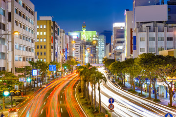 Naha, Japan Downtown Cityscape
