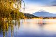 Mt. Fuji in Japan over Lake Kawaguchi