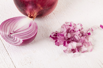 Fresh finely diced red onion
