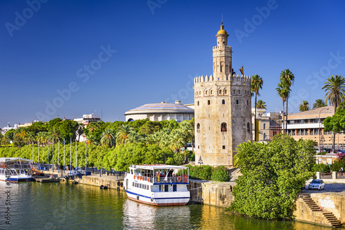 Papiers peints Fortification Torre del Oro Tower of Seville, Sapin