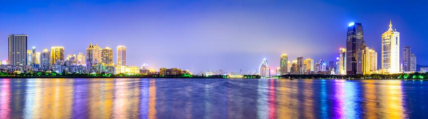 Xiamen, China Cityscape Panorama at Yundang Lake