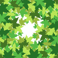 abstract background with leaves of maple