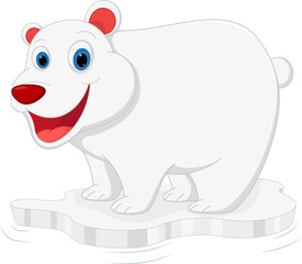 happy polar bear cartoon