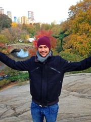 Young tourist in New York, Central Park