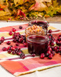 Cranberry sauce with cranberries and apple relish