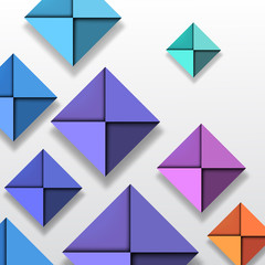 Colorful Folded Paper Background