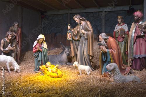 Leinwanddruck Bild The Nativity scene.