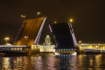 The Palace Bridge in St Petersburg Russia